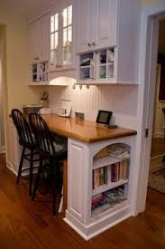 office in kitchen. shine your light kitchen office area in