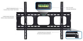 mount it low profile tv wall mount slim fixed bracket for 32 to 60 inch tvs lockable for extra security mi 305b com