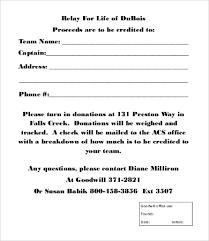 Fundraiser Pledge Form Template Donation Forms Samples Under Fontanacountryinn Com