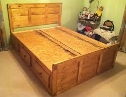 custom full size and queen size platformcaptain's bed by pine is