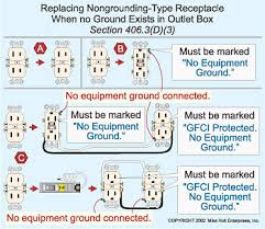 article 406 receptacles electrical construction & maintenance Gfci With No Ground Wiring Diagram article 406 receptacles electrical construction & maintenance (ec&m) magazine Wire a GFI without Ground