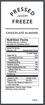 photo of pressed juicery new york ny united states chocolate almond freeze