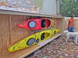 kayak rack best of ideal outdoor storage image diy wooden