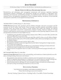 Examples Of Retail Resumes Best Of Retail Store Manager Resume