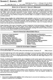 Security Sample Resume Executive Resume Writing Services
