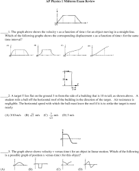 Ap Physics C Formula Chart Ap Physics 1 Midterm Exam Review Pdf Free Download