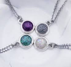 four glass bead necklace by locked in art