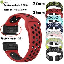 <b>22 26mm Silicone Watch</b> Band Easy Quick Fit Strap for Garmin ...