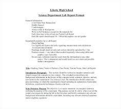 Formal Lab Report Format Coffeeoutside Co