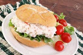Seafood Salad Sandwich On A Hard Roll ...
