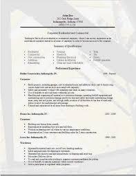Carpenter Resume New How To Write A Cv Resume Simple Carpenter Resume Examples Samples