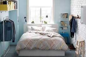 small bedroom storage furniture. Small Bedroom With IKEA Double Bed, Clothes Stand, Shelves, Hooks, Mirror, Storage Furniture