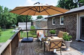 deck patio table umbrella