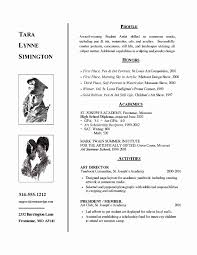 College Admission Resume Template Fresh Student Resume Examples For