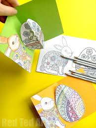 easy 3d pop up card how to easter coloring