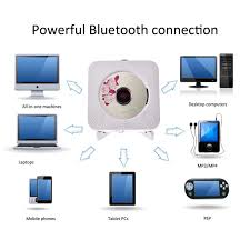 1 of 12free cd player wall mountable bluetooth home audio w remote control built in hifi c