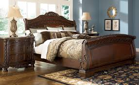 ashley north s queen sleigh bed