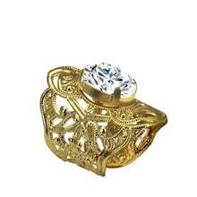 trendsgal women s fashion opening diamond rings gold plated charm jewelry