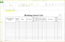 Wedding Guest List Template Excel Download Sample Guest List 8 Documents In Word Excel Template Price