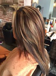 Dark Brown Blonde And Red Highlights