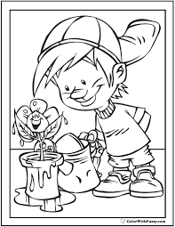 Artistic or educative coloring pages ? Spring Flowers Coloring Page 28 Spring Coloring Pages