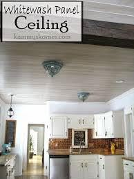 Kitchen Ceilings Kammys Korner Whitewash Paneled Kitchen Ceiling Restoring The