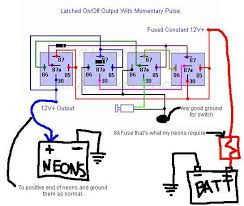 latching relay and momentary switch posted image