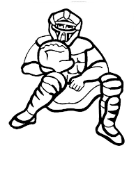 Baseball Catcher Colouring Page baseball player catcher colouring page baseball player catcher on pixel player template