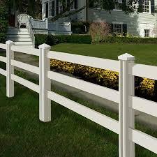 vinyl fence panels. Wam Bam Premium Ranch Rail Vinyl Fence Panels With Posts And Caps - 4 Ft. Vinyl Fence Panels E