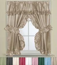 Curtains for picture window Walmart Bathroom Window Curtain Set Wtie Backs Ruffle Valance Lauren 70 Ebay Bathroom Window Curtains Ebay