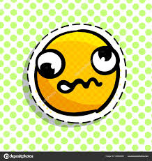 discouraged yellow smile dots background smail pop art style vector stock vector