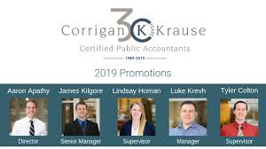 Promotion Post with Names - Corrigan Krause