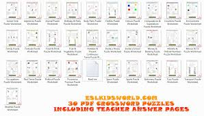 ESL Downloads | ESL Kids Puzzles | Flashcards | Board Templates