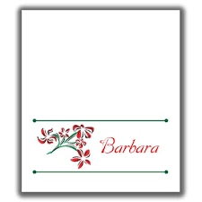 christmas placecard templates christmas place card templates