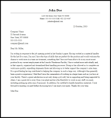 Professional Material Handler Cover Letter Sample Writing