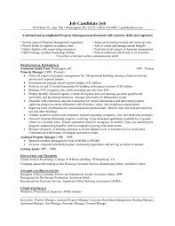 Assistant Property Manager Resume Examples commercial property manager resume samples Commercial Property 13