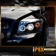 caliber srt new for 2007 2012 dodge caliber dual halo projector led headlight headlamp black fits