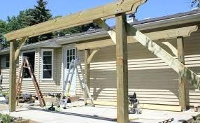 plans build standing pergola cost to diy