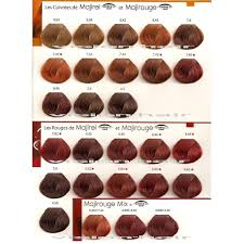 Loreal Red Hair Colour Chart Copper Loreal Majirel Color Chart Bedowntowndaytona Com
