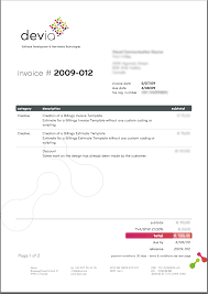 Designing An Invoice Graphic Design Invoice Template Word Petitingoutpolyco 7