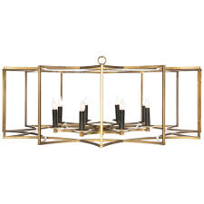 chan geo chandelier no 2 large gold black candle s