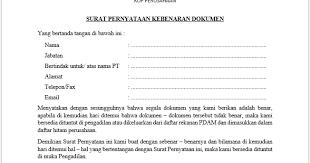 Nah, itulah salah satu contoh surat pernyataan dalam. Contoh Surat Pernyataan Kebenaran Dokumen Sholahknows