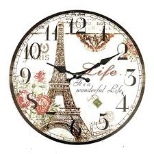 large office clocks. High Quality Large Wall Clock Eiffel Tower Vintage Rustic Shabby Home Office Cafe Bar Decoration Art Free Shipping 2018 From Wmy123, $40.28 | DHgate Mobile Clocks