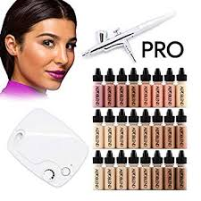 amazon aeroblend airbrush makeup pro starter kit professional cosmetic airbrush makeup system 24 color full 1 year warranty beauty