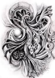 19 карточек в коллекции эскизы татуировок в стиле биомеханика