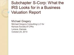 Subchapter S-Corp: What The Irs Looks For In A Business Valuation ...