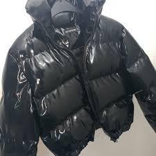 lydiamcgrath 2 months ago liverpool united kingdom plt patent faux leather bubble coat