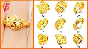 Gold Bridal Ring Designs Beautiful Gold Ring Designs For Girls With Weight Latest