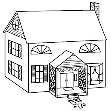 Small Picture Simple Drawing of Houses Coloring Page Simple Drawing of Houses