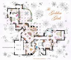 adorable golden girls house floorplan 13 incredibly detailed floor plans of the most famous tv show homes